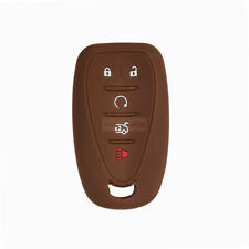 Fit For Chevrolet 5 Buttons Remote Key Fob Silicone Skin Case Cover Malibu Brown