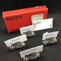 Selandia Designs Silverplated GRAPE Place Card Holders Use For Wine Or Cheese 4