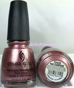 China Glaze Nail Polish Pink Champagne 252 Frost Dusty Pink Pearl Lacquer