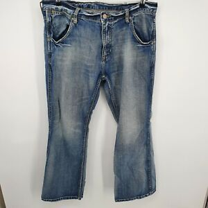 Arizona Mens Blue The Original Light Wash Relaxed Straight Denim Jeans 38x32