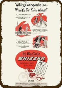 1948 WHIZZER BIKE MOTOR Vintage Look REPLICA METAL SIGN - BICYCLE MOTOR BIKE
