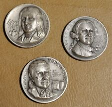 New ListingDeclaration Signers Medallic Art Co Silver Medals ~ Hopkinson Hart & Stockton