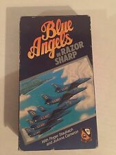 BLUE ANGELS IN RAZOR SHARP, WITH ROGER STAUBACH, VHS,  1982/88
