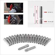 20Pcs M12x1.25 to M12x1.5 58MM Extended Wheel Stud Tall Bolts Screw Adapter Kit