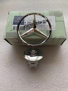 Bonnet Raised Star Emblem Badge Chrome For Mercedes C E S CLK Class A2218800086