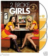2 Broke Girls ~ Complete 3rd Third Season 3 Three ~ BRAND NEW 3-DISC DVD SET