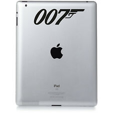 007 JAMES BOND (No 01) Apple iPad Mac Macbook Sticker Vinyl decal. Custom colour