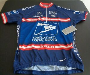 Nike US Postal USPS Cycling Jersey Lance Armstrong 2004 Tour de France Large NEW