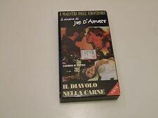 IL DIAVOLO NELLA CARNE JOE D'AMATO - VHS  SEX V.M.14 - PAL BUONE CONDIZ. V11