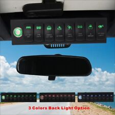 Voswitch Jeep Wrangler JK &JKU 2007-2018 Overhead 8-Switch Panel Green Light
