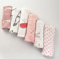 Water Absorption Muslin Towel Baby Bibs Wipe Cloth Infant Handkerchief