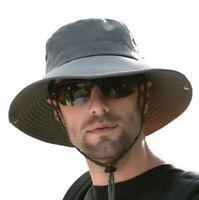 Waterproof Outdoor Bucket Mesh Hat Summer UV Protection Boonie Fishing Sun Cap