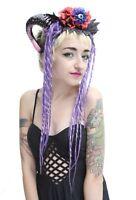 Third Eye Halloween Pastel Dreaded Rams Horn Festival Headdress Headband Crown