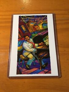 2018 New Orleans Jazz Fest Poster Postcard Fats Domino Terrance Osborne