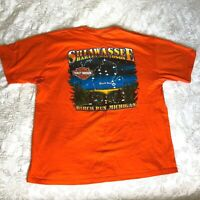 Harley-Davidson Men's Size XL Live Free Ride Free Orange T-Shirt Biker