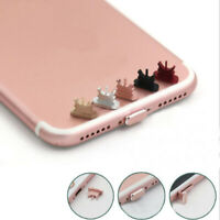2 PCS Metal Anti Dust Plug Charger Dock Stopper Cap Cover For iPhone 7 8 Plus XS