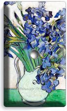 Vincent Van Gogh Irises White Vase Flowers Light Dimmer Cable Plates Room Decor