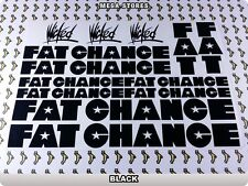 FAT CHANCE Stickers Decals Bicycles Bikes Cycles Frames Forks Mountain BMX 63U