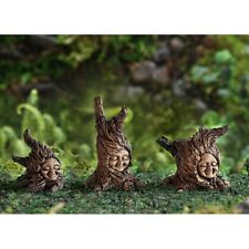 Miniature Tree Sprites set of 3 Garden  Fairy Faerie Gnome Hobbit  17011