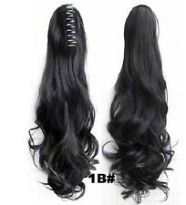 """22"""" Ponytail Clip In Premium Hair Extensions Claw On Pony Tail Synthetic Curly"""