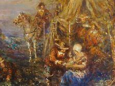 Rudolf Wolf, München (1877-1940) Gemälde: LANDSKNECHT-LAGER IM 30-JÄHRIGEN KRIEG