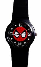 Marvel Comics SPIDER-MAN Face Quartz Movement Smooth Silicone Band WRIST WATCH