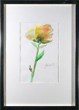 """UNIKAT von  Janosch """" Gelbe Rose """" handsigniert Zertifikat Galerierahmung"""