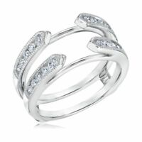 0.40 Cttw Diamond Women's Engagement Enhancer Wrap Ring Guard 14K White Gold