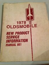 1978 Oldsmobile New Product Service Book 801.