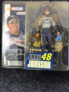 Action McFarlane 2004 #48 Lowe's Jimmie Johnson NASCAR Series 2 Holding Helmet