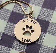 Halskette Gravur Trauerkette Hund Pfote Trauerschmuck Gedenken Haustier Katze 15