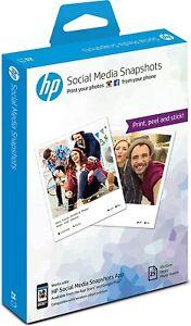 HP Social Media Snapshots Removable Sticky Photo Paper-25 sht/10 x 13 cm