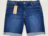 "Levi's Mens 511 Slim Fit Jean Shorts Size 42 Blue 10"" inseam Stretch Cutoff New"