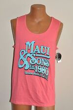 Maui & Sons Venice Beach California Sleeveless Surfing Beach Shirt Sz L New