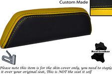 Black & Personalizado Amarillo encaja Cagiva Mito 125. 90-94. respaldo cojín de cuero Funda De Asiento