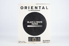 Oriental Seagull G-3 B&W Darkroom Photo Printing Paper 20 Sheets 8x10 V10