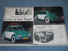 """1958 Volkswagen Rag Top Bug Article """"Love at First Sight"""" VW"""