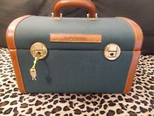 Ancien Vanity Case en toile MADE IN ITALY  / Vintage French Leather Vanity Case