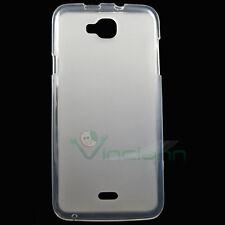 Custodia cover TPU Flexy bianca semi trasparente per Wiko Slide case gel nuova