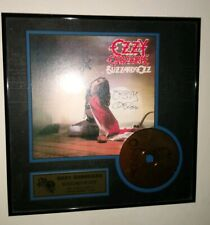 Ozzy Osbourne Blizzard Of Ozz Autographed 24KT. Gold CD lithograph 70/950