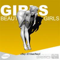 Beauty Show Girl Unpainted Resin Kits Model GK Figurine YuFan 55mm