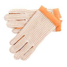 Lambland hommes - Femmes Cuir Gants de conduite avec Crochet ventilation tricot