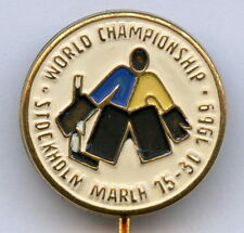 Sweden ice Hockey Official World championship Stockholm 1969 Pin Badge Nice !!!