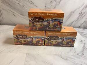 3 Celestial Seasongings black tea sweet harvest pumpkin 60 bags