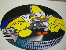 "PAIR (2) HOMER SIMPSON / KRUSTY CLOWN 12"" or 7"" DJ SLIPMATS slipmat simpsons"