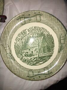 OLD CURIOSITY SHOP DINNER PLATES SET OF 7