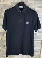 Stone Island Mens Size M Regular Fit Navy Polo Top T Shirt