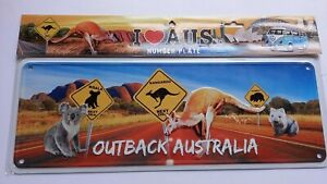 Australia Souvenir Metal Licence Number Plate Kangaroo Koala Wombat NEW giftidea