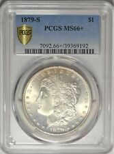 1879-S $1 PCGS MS 66+ Superb Gem Plus Uncirculated Morgan Silver Dollar Coin