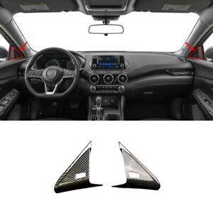 For Nissan Sentra Sylphy 2020-2022 Carbon Fiber Front Triangle A-Pillar Cover